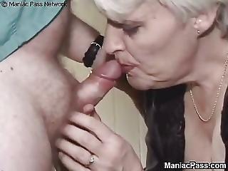 Aged Granny Nailed By Hairy Man