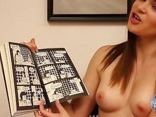 Topless Girls Reading Books Jennaj Andregiant Free.mp