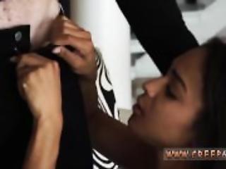 Ebony bondage anal threesome and teens at