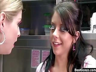 Petite Brunette Tessa Taylor Gets Huge Facial