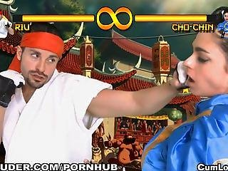 Sex And Violence In This Xxx Parody Of Street Fighter