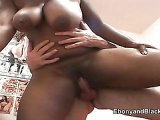 Larged Breasted Black Honey And Friend Fucked By White Man