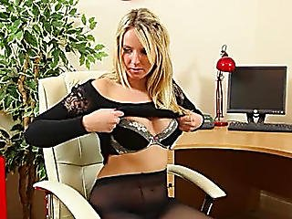 Secretary In Darksome Undressing Hard