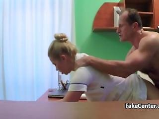Horny Doctor Creampied His Nurse