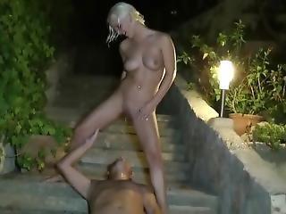 2 Piss Sluts Pissing At A Guy