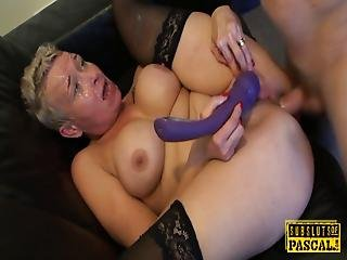 Mature Uk Whore Plowed Deeply In Both Holes