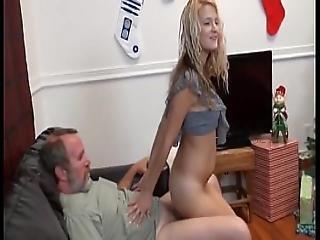 Teen Fucks Old Guy For Xmas On Hardbodycams.com