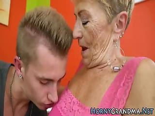 Granny With Big Boobs And Hairy Cunt Rides Cock For Cumshot
