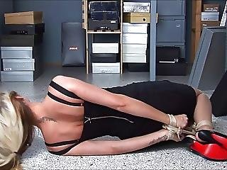 Blond Tied By Brunette