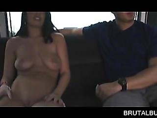 Cute Amateur Taking Huge Cock From Behind