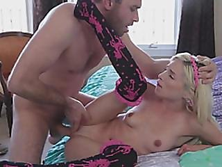 Skinny Blonde Girlfriend First Time Intercourse With Junkies Big Cock Boyfriend