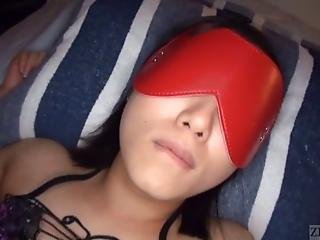 Blindfolded Japanese Jav Star Chihiro Sano Wearing Nothing But Revealing Lingerie Receives A Sensual Full Body Erotic Oil Massage By Her Boyfriend Before His Friends Joins In With English Subtitles