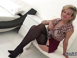 Huge Titted Bisexual Married Woman Gill Ellis Plays With Her Monster Tits And Rubs Narrow Slit In Undies