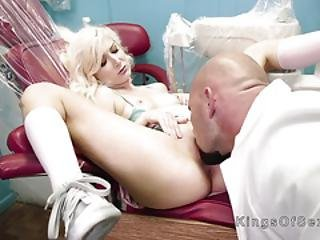Blonde Teen Rides Huge Cock To Dentist