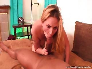 Blonde Slut Likes Taste Of Sperm
