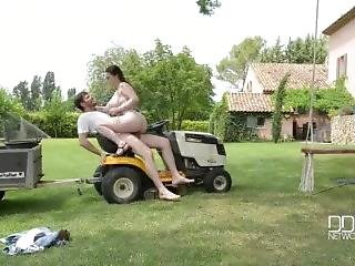 Big Tits Getting Fucked By A Gardener