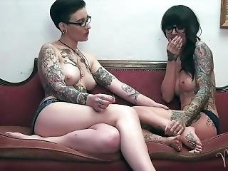 Topless Smoking W/miss Olivia Black & Bare Naked Chef