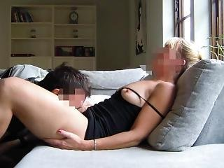 Beautiful Blonde Gets Her Pussy Satisfied. Then We Come Together
