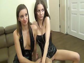 Two Sexy Girls Enjoying Hot Creampie