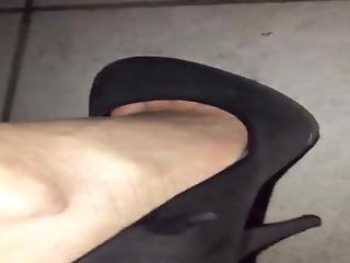 Lena Walking In Her Cum Filled High Heels