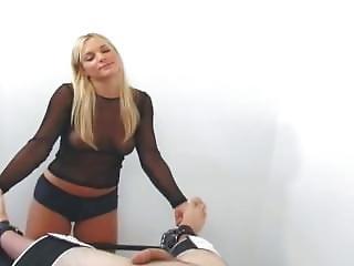 Interrogator strip testicles female