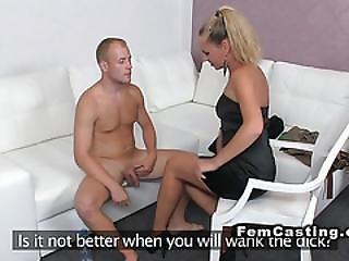 Limp Dick Guy Fucks Female Agent