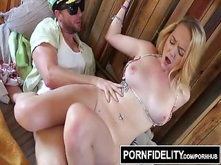 Pornfidelity Iris Rose Uses Her Perky Young Tits On Dirty Old Man