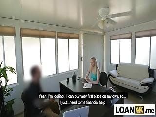 Stripper Teen Blonde Really Needs A Loan Of 500 Dollars