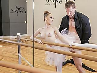 Hot Redhead Ballerina Fucks Her Coach To Get An A