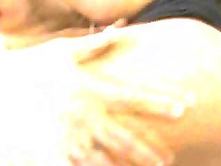 Yummy Ebony Tranny Getting Her Hard Cock Sucked On
