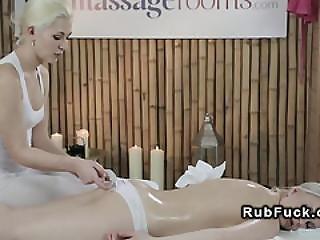 Blonde Masseuse Gets Pussy Vibed