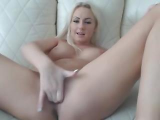Busty Blonde Rubs Pussy Hard - Add Her Snapchat Rubysuce