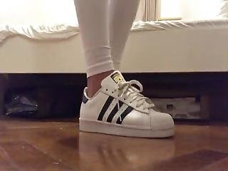 Teen Girl White Sneakers And Socks