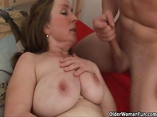 Chubby, Cumshot, Fucking, Hat, Mature, Milf, Mom, Mother, Old
