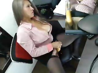 Sexy Colombian Masturbates At Office 2
