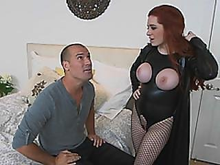 Veronica Vain Redhead Busty Milf In Latex Outfit Gives Welcome Fuck With Big Cock New Neighbor