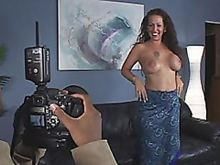 Busty Milf Gets Filled By Black Schlong On Couch