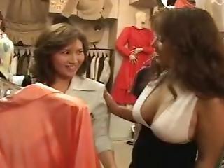 Preview: Asian Lesbians Dress Room Deep Kiss (bts)