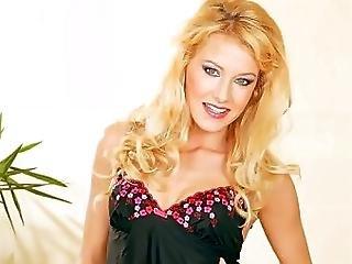 Pretty Blonde In Stocking