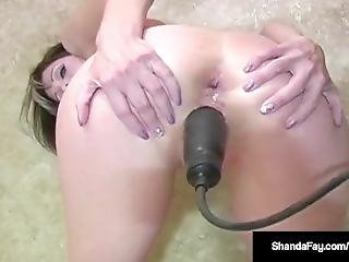 Super Milf Shanda Fay Fucked In Both Holes In The Bath Tub!