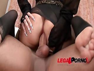 Ultra Freaky Vixen Anna Nova In Double Pantyhose Fetish With Hard Anal Fuck.