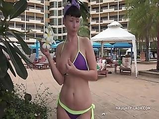 Sheer Bikini In Public