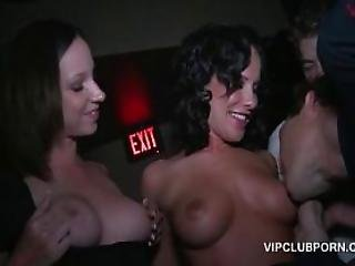 Party Tramps Flashing Horny Pussies In The Vip