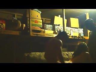 Two Bros Bang Girl In Garage