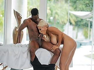 black, blonde, pipe, trapue, éjaculation, sombre, deepthroat, lèche, massage, chatte, suce