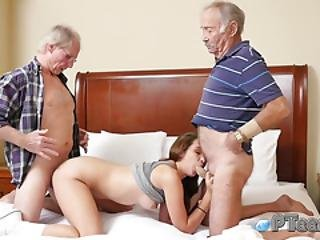 Sexy Teen Is Ready For A Hot Threesome