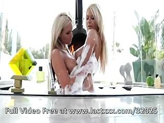 Blonde Beauties Share A Big Cumshot