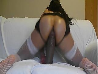 Latina Whore Training Her Pussy To Fuck Some Bbc