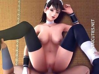 3d Hentai Maid Gets Pussy Fucked