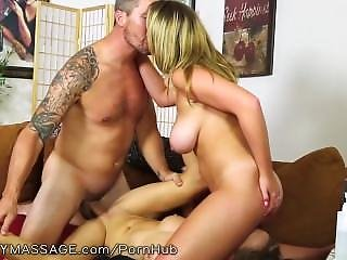 Fantasymassage Husband Double Teamed